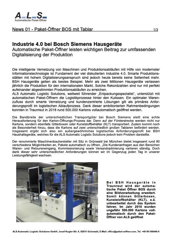 BSH Bosch Siemens Lagerlogistik
